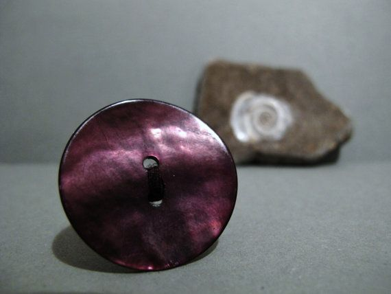 Purple shell button ring