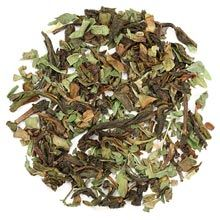 An interesting twist on classic Moroccan Mint tea, which traditionally combines Gunpowder green tea from China with fresh mint. We kept the latter, and replaced the smoky notes of Gunpowder with the m