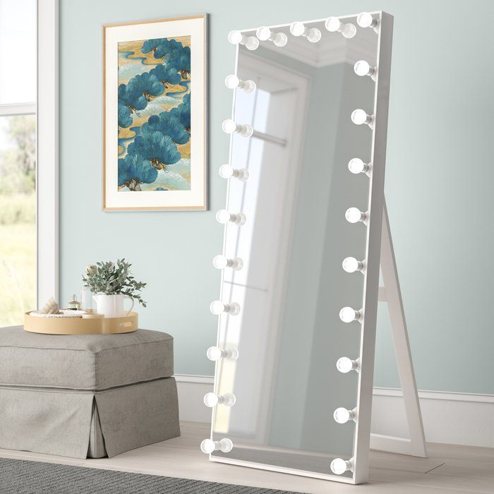 Standing mirror with led lights