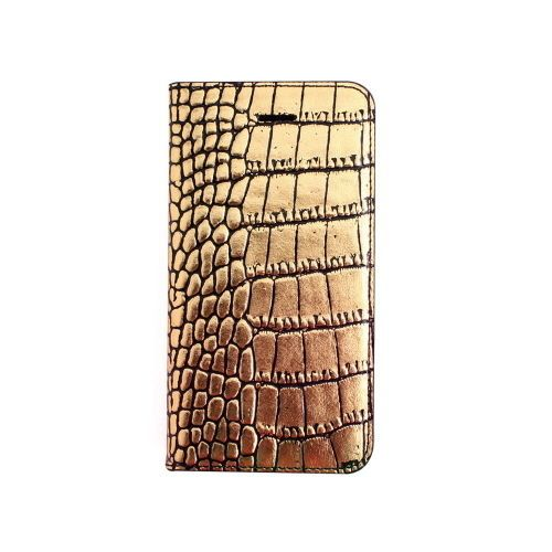 Gaze Genuine Leather Apple iphone5/5s Wallet Cover Case Pouch Gold Handmade #Gaze