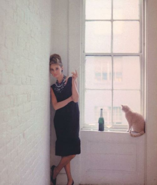 An Audrey-inspired little black dress. Breakfast at Tiffany's always a do!
