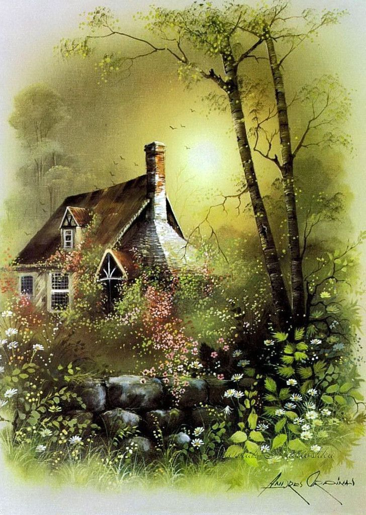 145 best images about storybook cottage in art on pinterest for How much is my painting worth