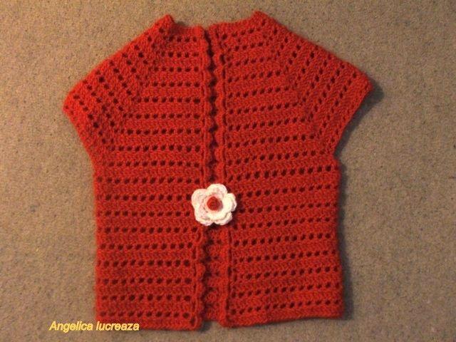 crochet bolero from top down