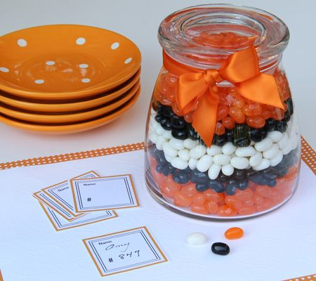 Guess the Clownfish Count Game. All baby shower guests have to do to win is come up with a jelly bean tally that comes closest to the actual number of jelly beans.