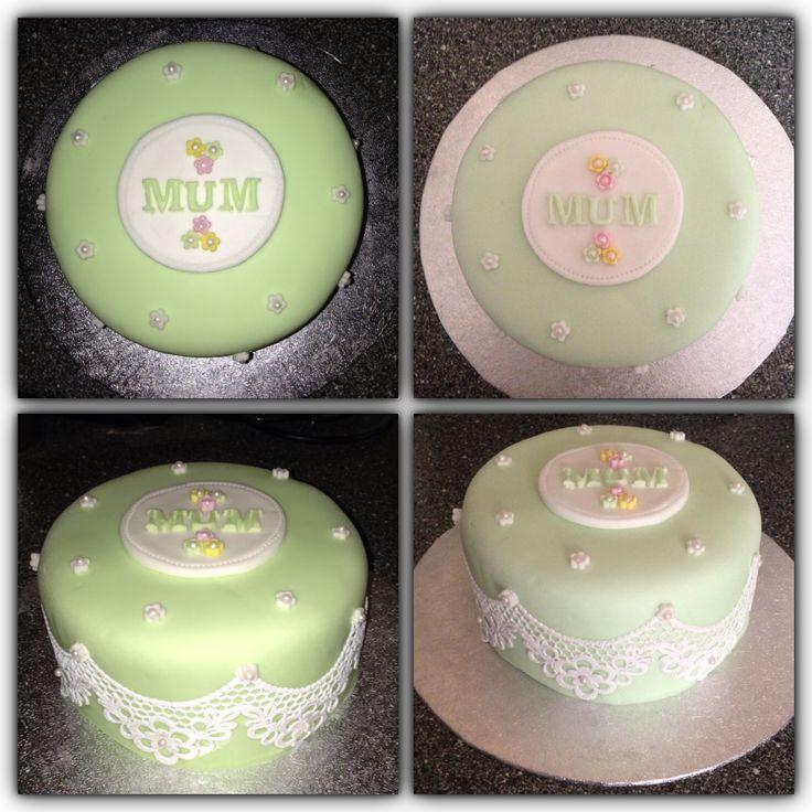 Lace cake - mums birthday cake - Victoria sponge