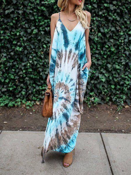 27038adbbe9 Buy Summer Dresses For Women at JustFashionNow. Online Shopping  JustFashionNow V neck Blue Women Summer