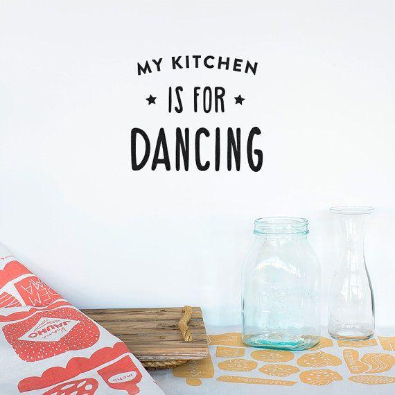 Vinilo decorativo pared - Mi cocina es para bailar