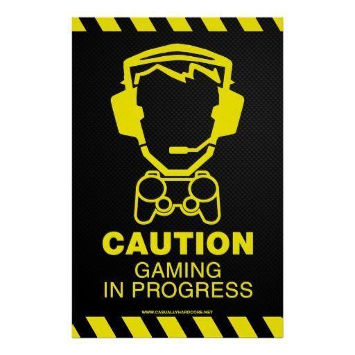 Video Game Poster – Gaming In Progress | Zazzle.com