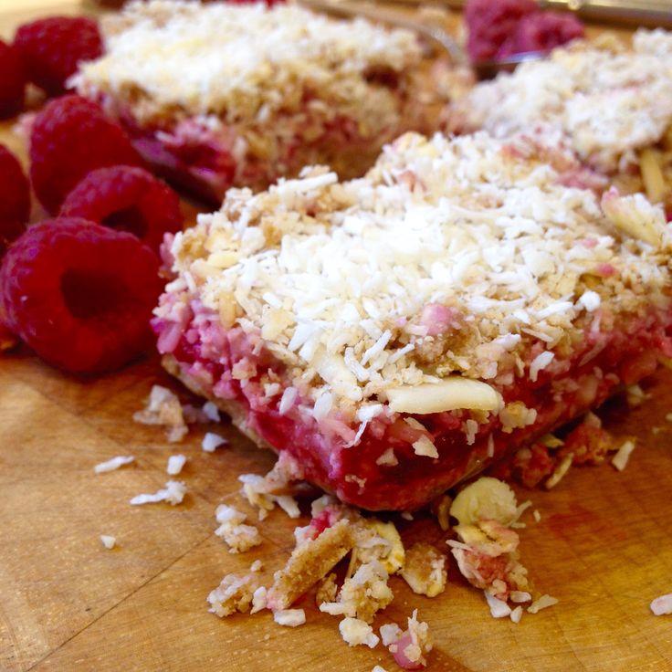 Raspberry Oat Bars--Raw, Vegan, Gluten Free