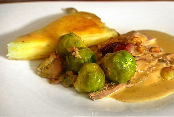 Stekt fasan med calvadossås | Recept.nu