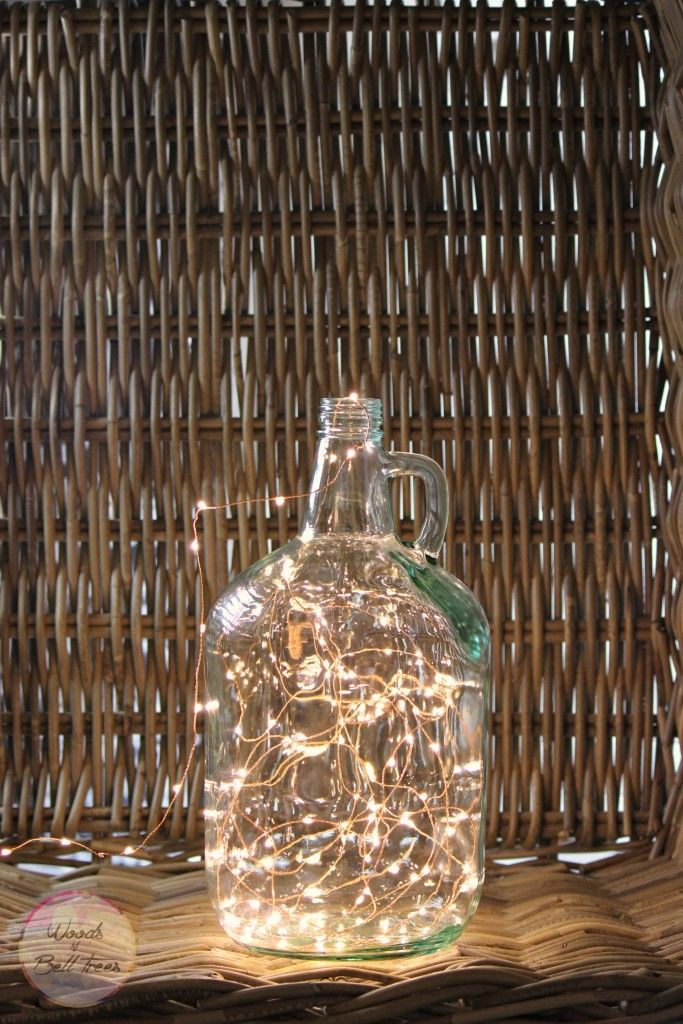 Make your very own growler lamp with a clean growler and fairy lights!   Woods of Bell Trees