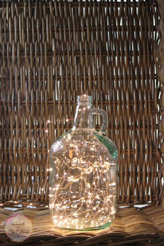 growler, demijohn, lamp, diy, project, simple, quick, easy, decor, lighting, fairy light, idea 2