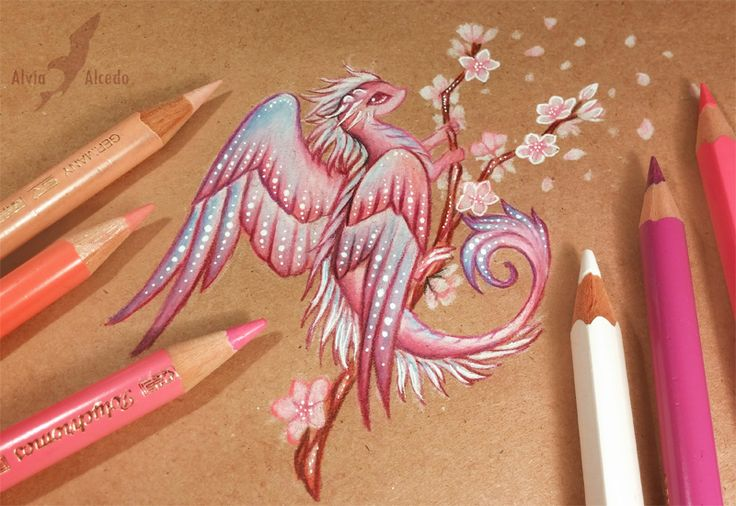 Sakura dragon by AlviaAlcedo.deviantart.com on @DeviantArt