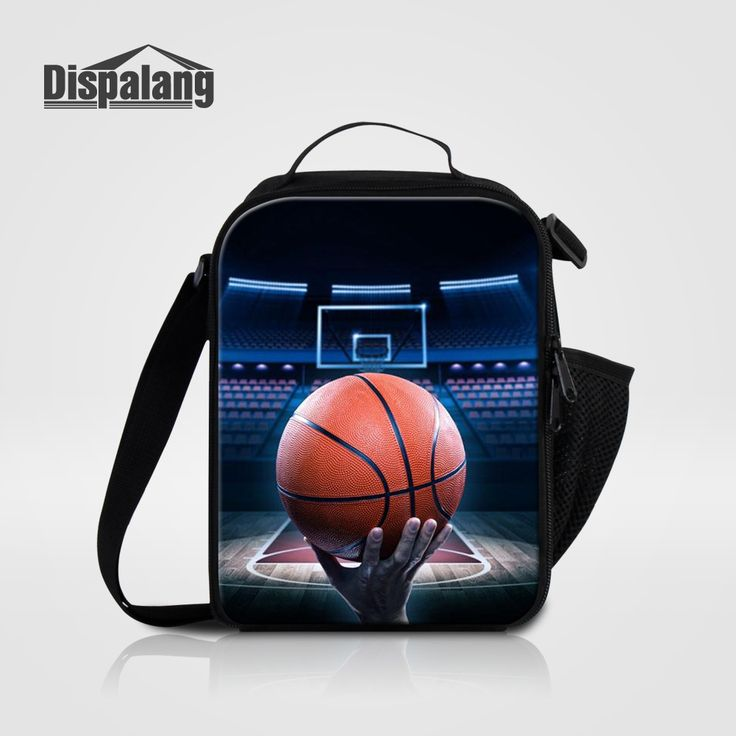 Dispalang Portable Insulated Lunch Bag Boy Personalized Basketballs Design Men Lunch Box Messenger bags For School Bolsa Termica