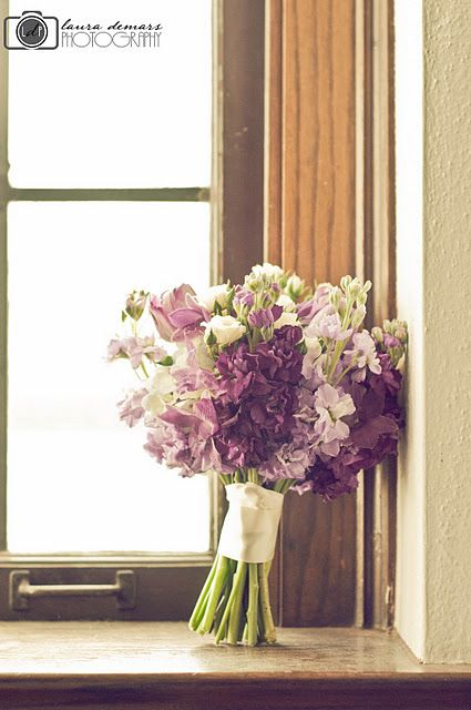 Purple Wedding Flowers. Perfect mix of classy and country