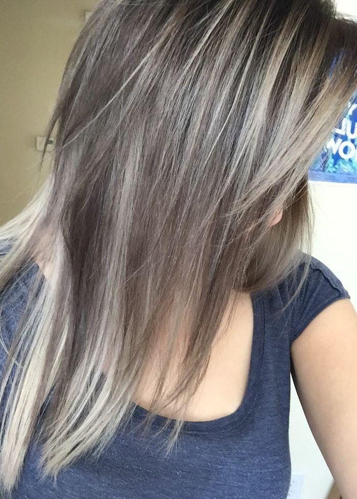 Braune blonde haare highlights Braune Haare: