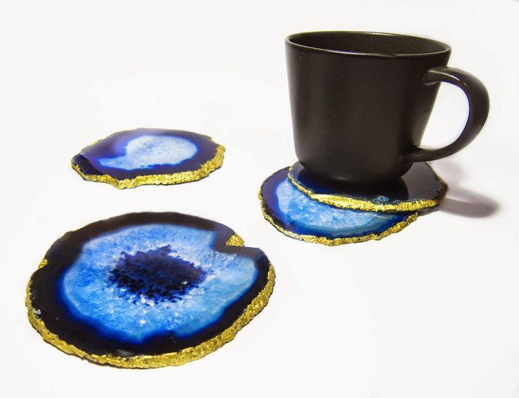 AGATE GEMSTONE STONE RING: Agate Coasters