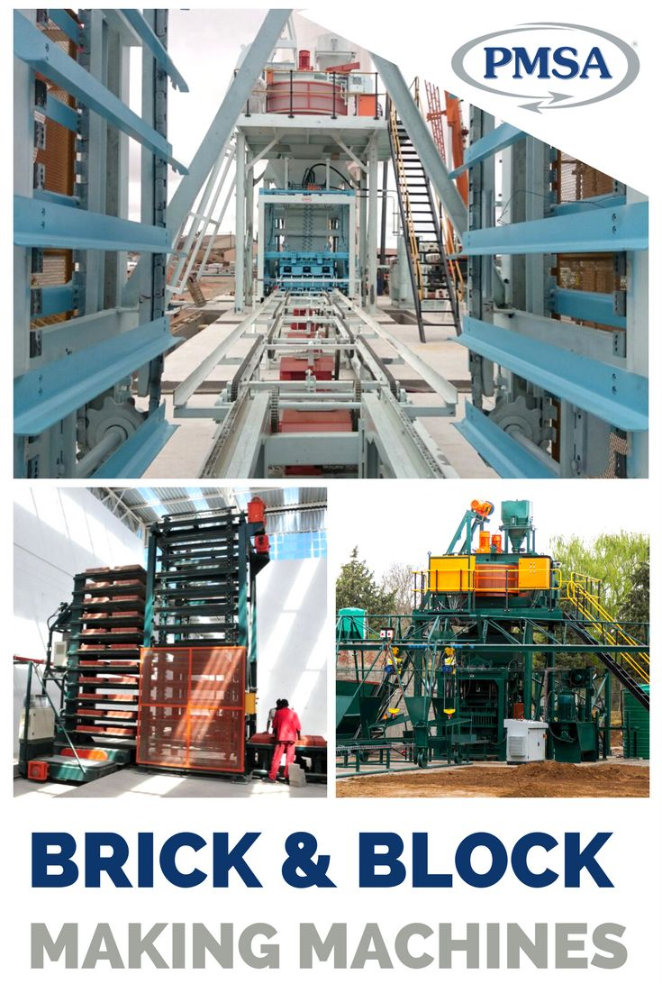 PMSA machines with production capacities of up to 165 000 bricks or 2000 pallets of hollow blocks per 9 hour shift!