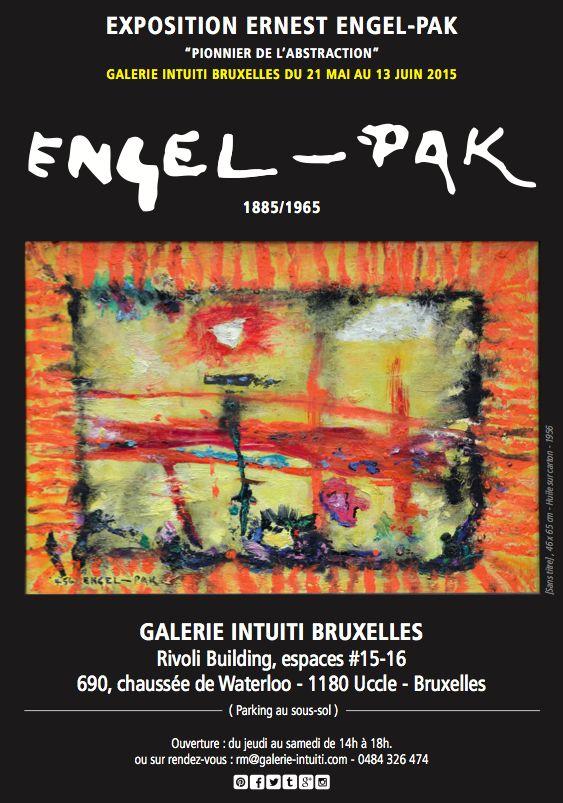 Affiche exposition ENGEL-PAK Galerie Intuiti Bruxelles // > https://www.facebook.com/events/432693336908053