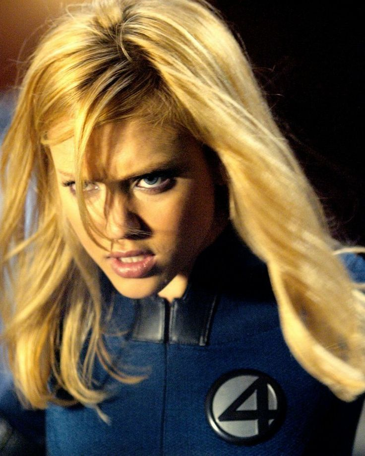 Jessica Alba as Sue Storm (the Invisible Woman) in the Fantastic Four movie