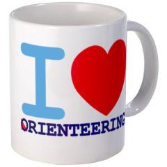"""I <3 Orienteering"" Mug"