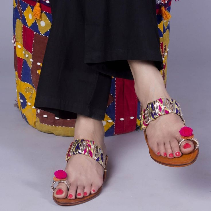 Colorful Trendy Kolhapuri Chappal