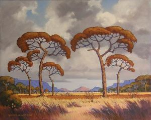 """Bushveld Morning Cloudy Sky (Pierneef)"""