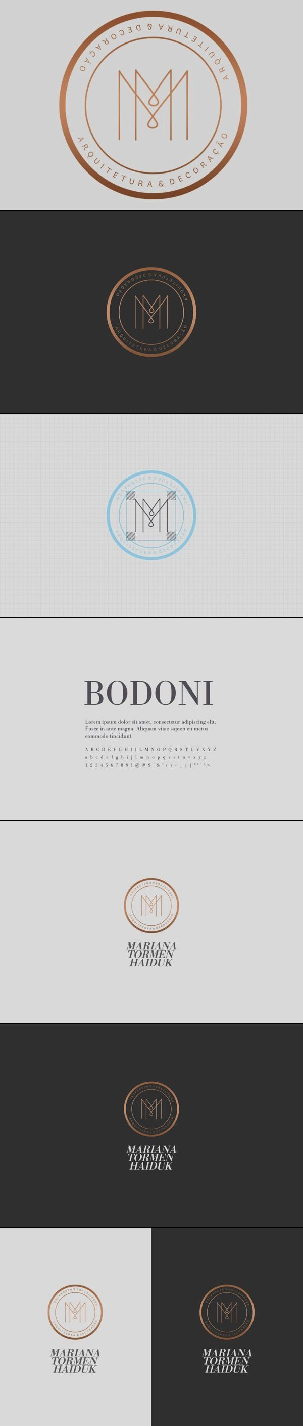 note: Mariana Tormen Haiduk Architecture Logo Design & Brand Identity by Estúdio Alice via Behance.