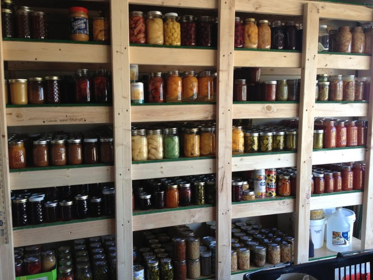58 best home canned goods shelving images on pinterest for Can good storage ideas