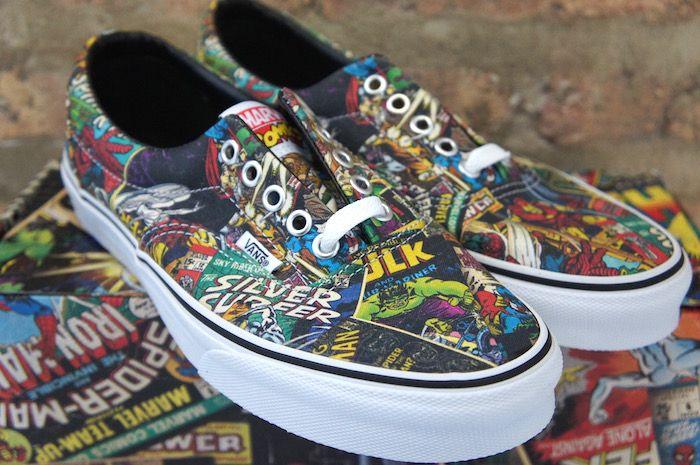 Vans Marvel Comics Skate Shoe - Soleracks   Vans, Cool vans shoes ...