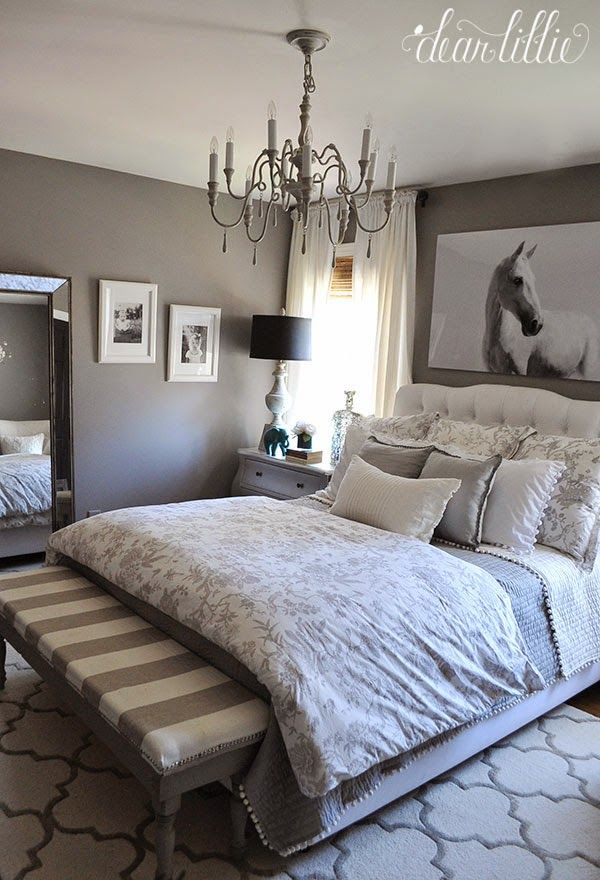 Wall Color - Graystone by Benjamin Moore in Matte Finish from......  Dear Lillie: Some Artwork for Our Gray Guest Room