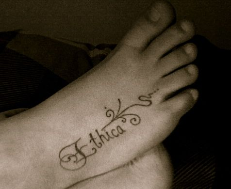 Greek Philosophy Tattoos Ethica is the latin/greek for