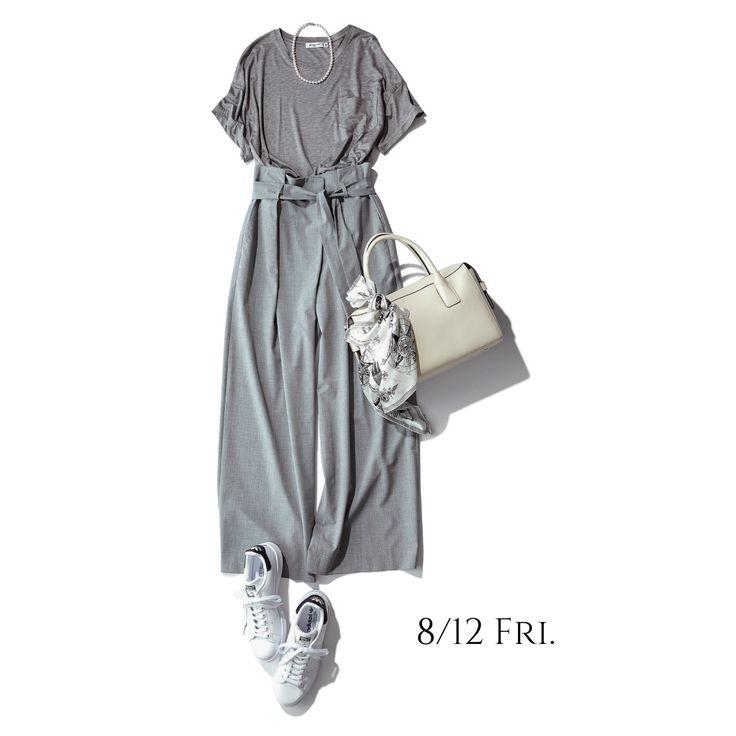 楽ちんグレーコーデ。色を揃えてオールインワン感覚で着てみる!Marisol ONLINE|女っぷり上々!40代をもっとキレイに。