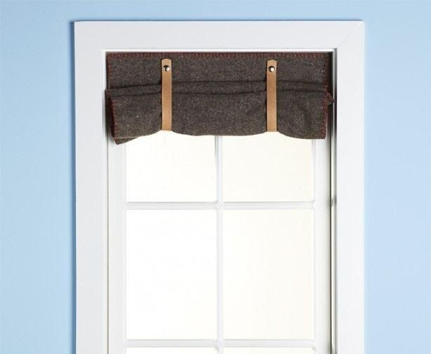 How to Make a Manly Curtain from a Wool Blanket « MacGyverisms