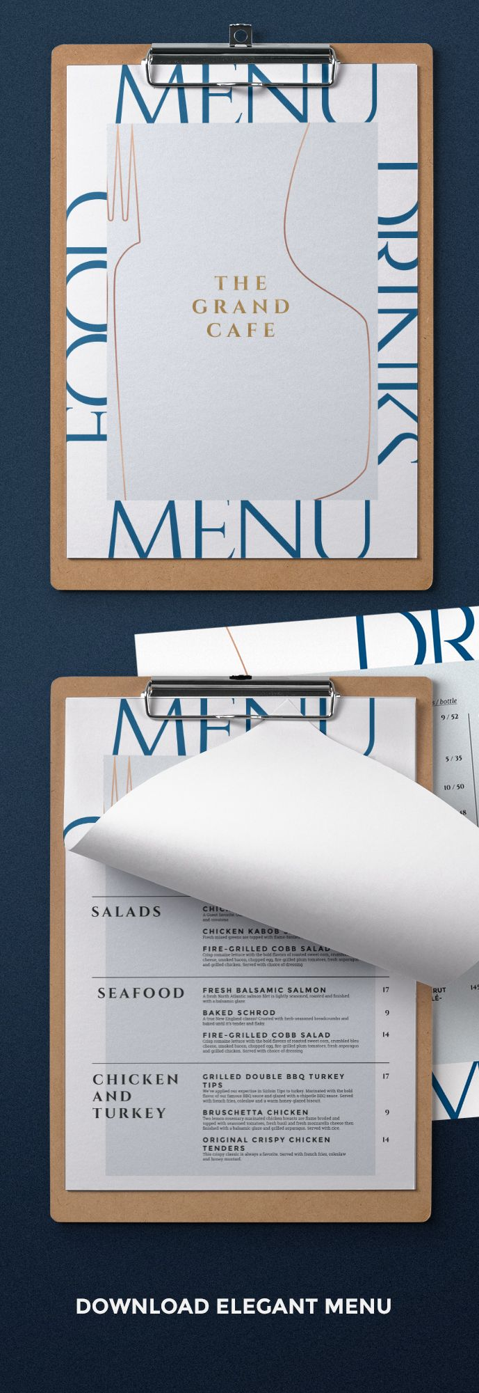 Restaurant Menu Design. #restaurant #menu #design #minimalist #food