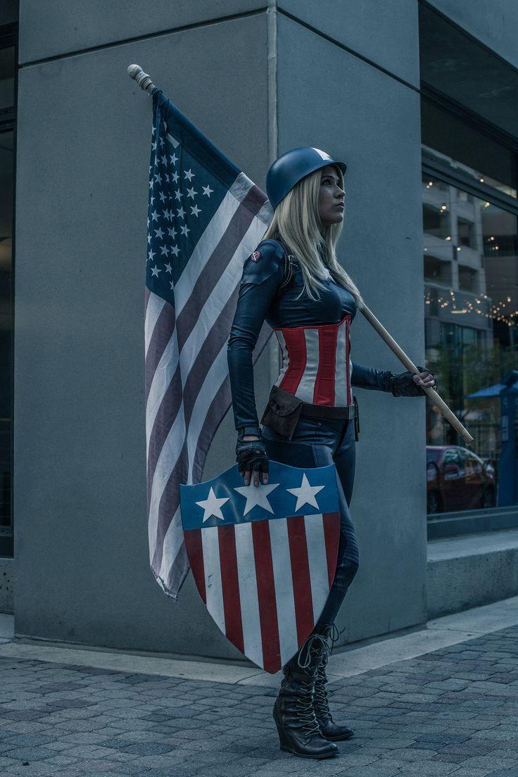 Captain America Genderbend Cosplay | Marvel comics, Comic books, geek, costume