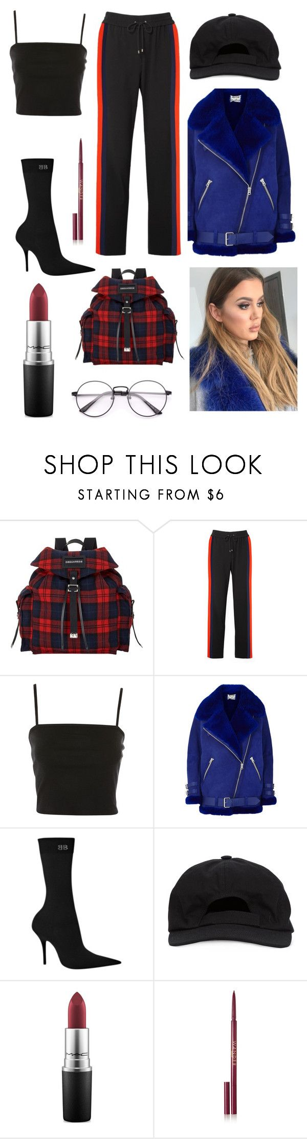 """Untitled #1503"" by denisaalexandraa ❤ liked on Polyvore featuring Dsquared2, Kenzo, Topshop, Acne Studios, Balenciaga, MM6 Maison Margiela, MAC Cosmetics and Wander Beauty"