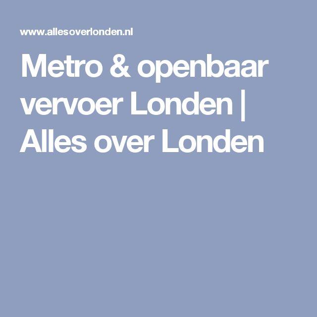Metro & openbaar vervoer Londen | Alles over Londen