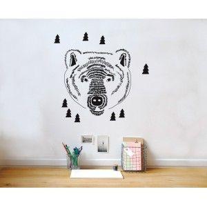 Sticker Mimi'lou - Tête d'ours