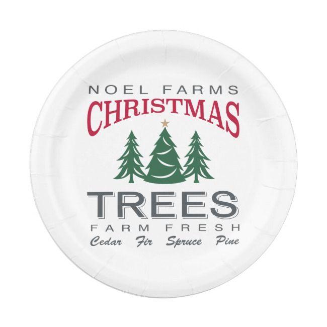 Christmas Tree Farm Paper Plate Zazzle Com Christmas Tree Farm Tree Farms Christmas Tree