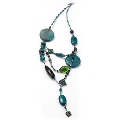 Afrodita onyx pendant with glass beads and by DesignsByTams