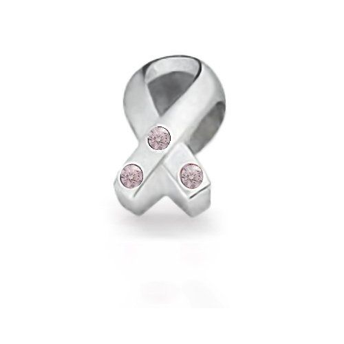 Bling Jewelry CZ Breast Cancer Awareness Pink 925 Silver Charm Bead Fits Pandora Bling Jewelry. $16.99. Breast cancer awareness ribbon charm bead. .925 sterling silver. Pandora, Troll, Oriana, Pugster, Chamilia compatible. Unthreaded European story bead. Compatible with snake chains and cords 3mm or smaller