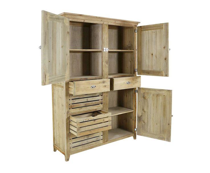 Credenza verticale in legno di pino Nathan - 140x208x50 cm   Dalani Home & Living