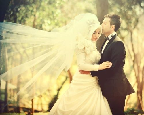 Muslim bride hijab wedding pictures