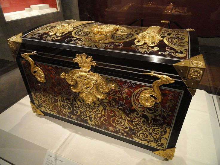 casket early th century attributed to boulle oak carcass veneered