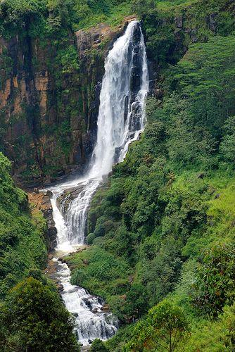 Beautiful water falls, particularly at Ella en-route from Nuwara Eliya to Yala, Sri Lanka