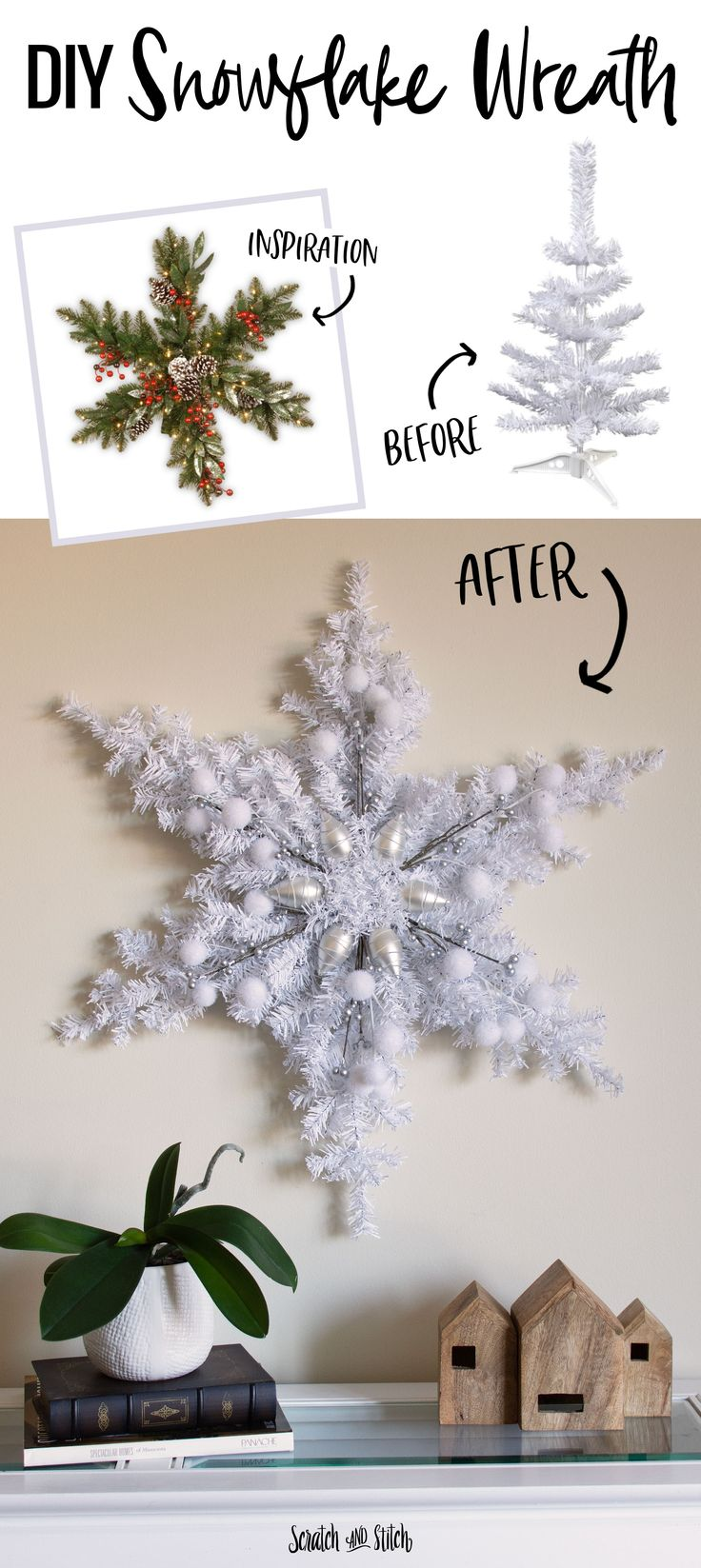 DIY Christmas Decoration: Snowflake Wreath