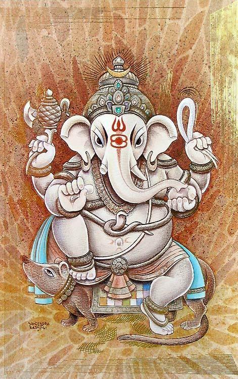 Sitting Ganesha (Reprint on Paper - Unframed))