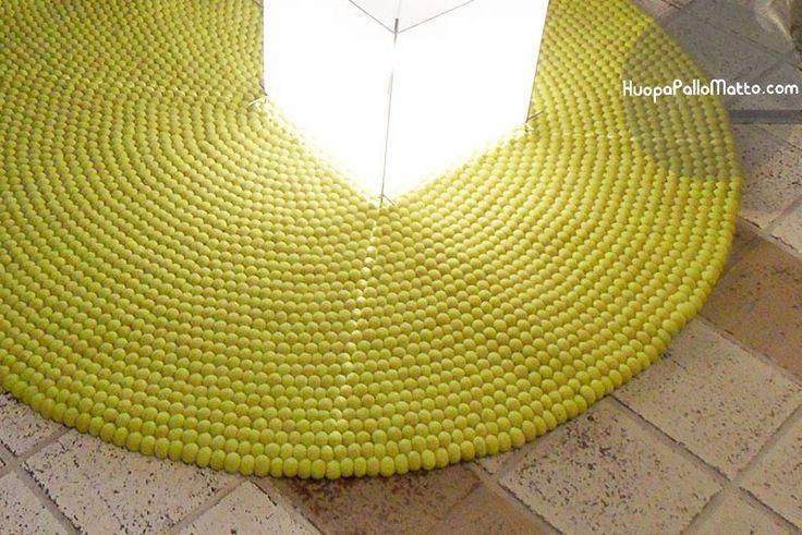 HuopaPalloMatto - väriä syksyyn #HuopaPalloMatto #keltainen #matto #sisustus #väri #syksy