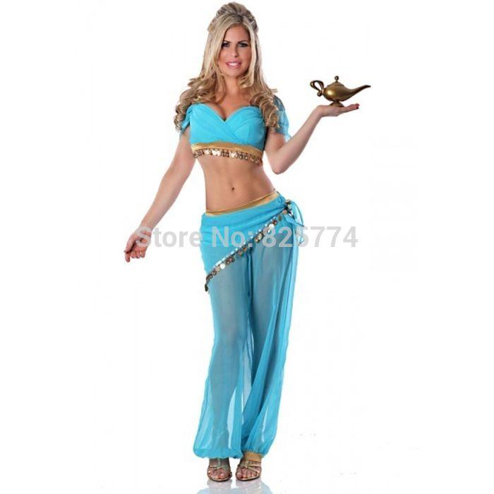 Prinzessin jasmin kostüm frauen erwachsene Aladdin Prinzessin Jasmin cosplay halloween kostüme für frauen bauchtanz kleid großhandel in Produktbeschreibung100% polyesterchemisch Reinigen Nurgewicht 0,4 kgbeinhaltet: top, gürtel, Hosen, shortsfarben: bl aus Kleidung auf AliExpress.com | Alibaba Group